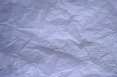 скомканная бумажная белизна текстуры Стоковые Фотографии RF