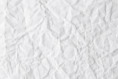 скомканная бумажная белизна Стоковые Фото