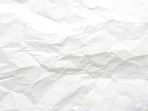 скомканная бумажная белизна текстуры Стоковые Изображения