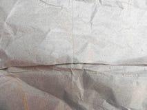 скомканная бумажная белизна текстуры Стоковая Фотография