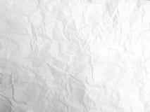 скомканная бумажная белизна текстуры Стоковое Изображение