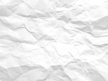 скомканная бумажная белизна текстуры Стоковое Изображение RF