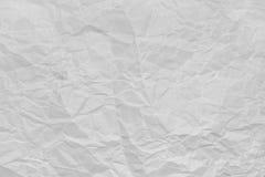 скомканная бумажная белизна текстуры Стоковая Фотография RF