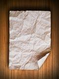 скомканная бумажная древесина стены Стоковые Изображения
