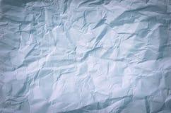 Скомканная бумажная текстура для предпосылки Стоковое Фото
