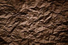скомканная бумажная текстура Стоковое Фото