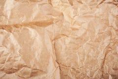 скомканная бумажная текстура Стоковая Фотография
