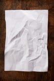 скомканная древесина бумажной таблицы Стоковые Фото