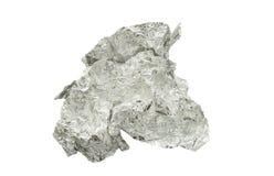 Скомканная изолированная алюминиевая фольга стоковые фотографии rf