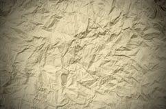 Скомканная коричневая бумага от пакета как текстура предпосылки Стоковые Фотографии RF