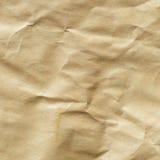 Скомканная коричневая текстура конвертной бумаги Стоковые Фотографии RF
