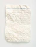 скомканная линия бумага Стоковое фото RF