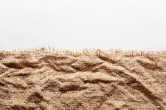 Скомканная мешковина с сорванным краем Стоковая Фотография
