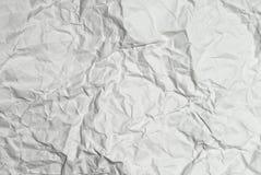 скомканная предпосылкой бумажная белизна текстуры Стоковые Фото