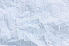 скомканная предпосылкой бумажная белизна текстуры Стоковое Изображение RF