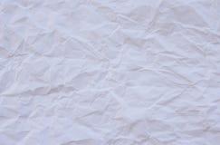 скомканная предпосылкой бумажная белизна текстуры Стоковая Фотография