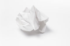скомканная предпосылкой бумажная белизна текстуры Стоковая Фотография RF