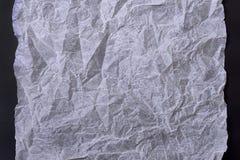 скомканная предпосылкой бумажная белизна текстуры Стоковое фото RF