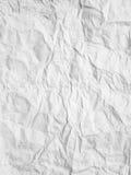 скомканная предпосылкой бумажная белизна текстуры Стоковые Изображения RF