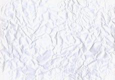скомканная предпосылкой бумажная белизна текстуры Стоковое Фото