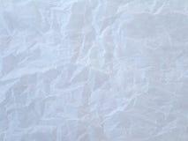 скомканная предпосылкой бумажная белизна текстуры Стоковые Фотографии RF