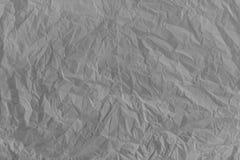 Скомканная серая бумажная текстура Стоковое Изображение RF
