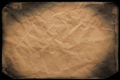 скомканная старая бумага Стоковое Фото