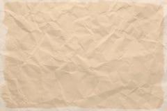 скомканная старая бумага Стоковые Фотографии RF