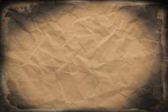 скомканная старая бумага Стоковые Изображения