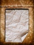 скомканная старая бумажная стена Стоковое Фото