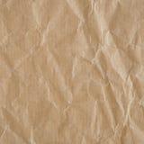 Скомканная текстура бумаги eco Стоковое Изображение