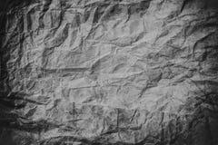 Скомканная темная серая бумажная текстура, скомканная бумага, бумажная предпосылка текстуры Стоковая Фотография