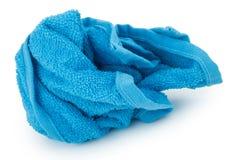 Скомканное голубое полотенце Стоковое Фото