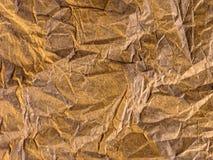 скомканное золото Стоковое Фото