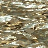 Скомканное листовое золото Стоковое Изображение