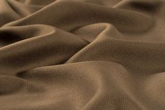 Скомканные предпосылка и текстура ткани Стоковое Изображение