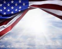 Скомканный американский флаг Стоковое Изображение RF