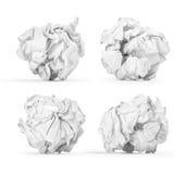 Скомканный бумажный изолированный шарик Стоковое фото RF