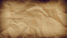 Скомканный бумажный космос виньетки предпосылки для текста или изображения Стоковое Изображение RF