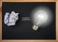 Скомканный бумажный свет шарика и шарика Стоковая Фотография