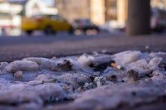 Скомканный доллар на улице Стоковое фото RF