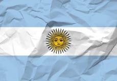 Скомканный флаг Аргентины бумаги иллюстрация вектора