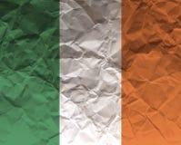 Скомканный флаг текстурированный бумагой - Ирландия Стоковые Фотографии RF