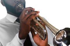 Сконцентрированный трубач Стоковая Фотография RF