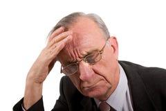 сконцентрированный человек серьезный Стоковая Фотография RF