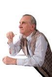 сконцентрированный человек старый Стоковые Изображения