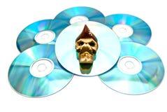 скопируйте белизну пиратства диска Стоковое фото RF