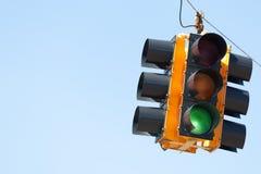 скопируйте движение космоса сигнала зеленого света Стоковые Изображения RF