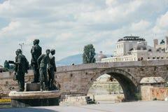 Скопье - каменный мост Стоковая Фотография