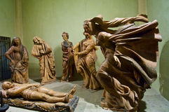 Скорба над мертвыми статуями Христоса стоковая фотография